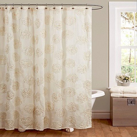 buy samantha shower curtain in ivory from bed bath beyond