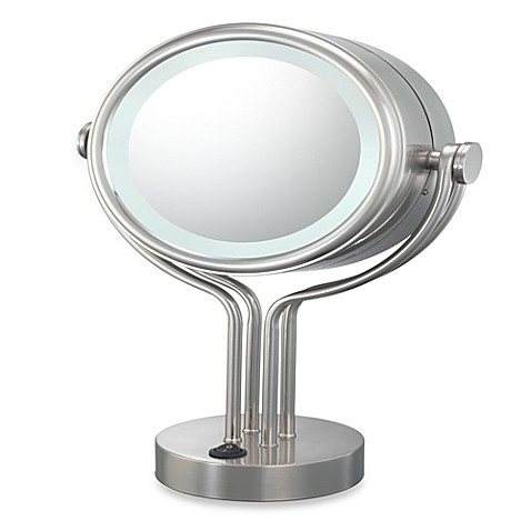 Buy kimball young lighted 5x 1x magnification free - Bathroom vanity mirrors brushed nickel ...