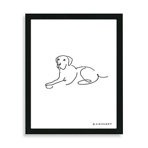 Framed Labrador Retriever Line Drawing Bed Bath Amp Beyond
