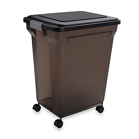 Buy iris usa extra large airtight mobile pet food for Extra large dog food container