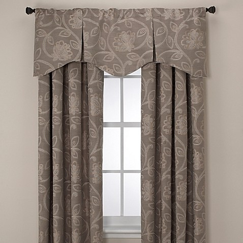 Buy Jacobean Rod Pocket Back Tab 108 Inch Window Curtain