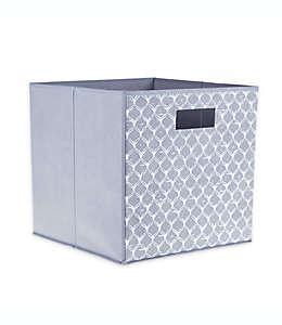 Contenedor de cartón plegable ORG Capri Ogee cuadrado color blanco/gris