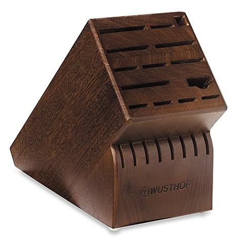 Buy Wusthof 22 Slot Wood Knife Block In Walnut From Bed