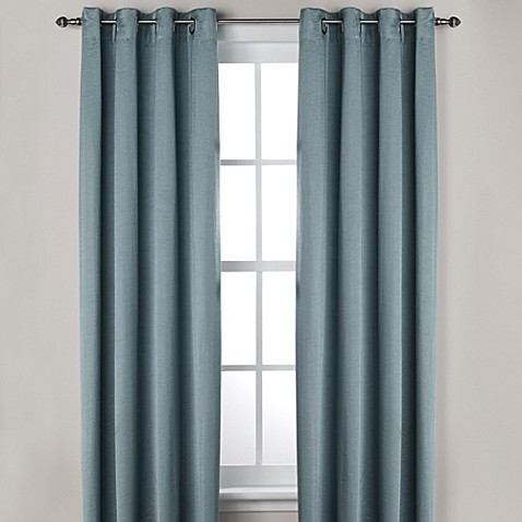Ashton grommet top room darkening window curtain panel Bed bath and beyond curtains for living room