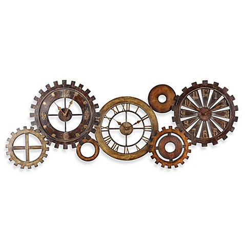 Uttermost Spare Parts Wall Clock Bed Bath Amp Beyond