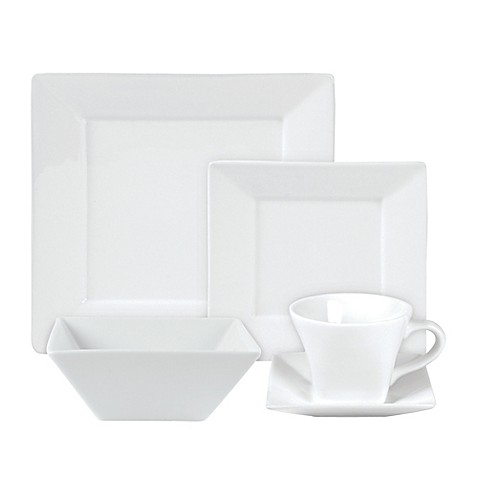 Everyday White® by Fitz and Floyd® Square Dinnerware at Bed Bath & Beyond in Cypress, TX | Tuggl