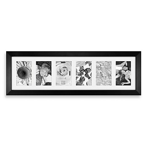 Malden 174 Berkeley 6 Opening Picture Frame In Matted Black