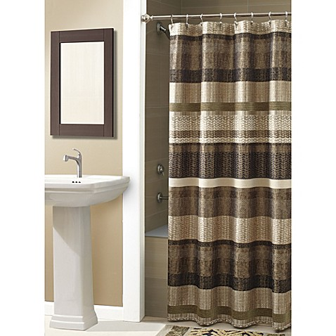 Croscill Portland Shower Curtain In Bronze Bed Bath And Beyond