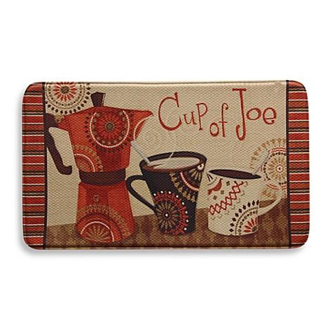 bacova cup of joe 20 inch x 34 inch memory foam floor mat