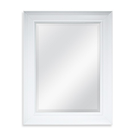 X 27 5 inch large decorative mirror in white for Fancy white mirror