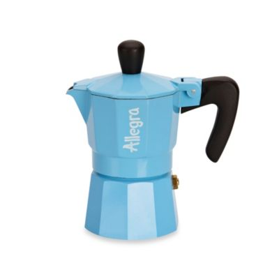 Buy Allegra 1-Cup Espresso Coffee Maker in Light Blue from Bed Bath & Beyond