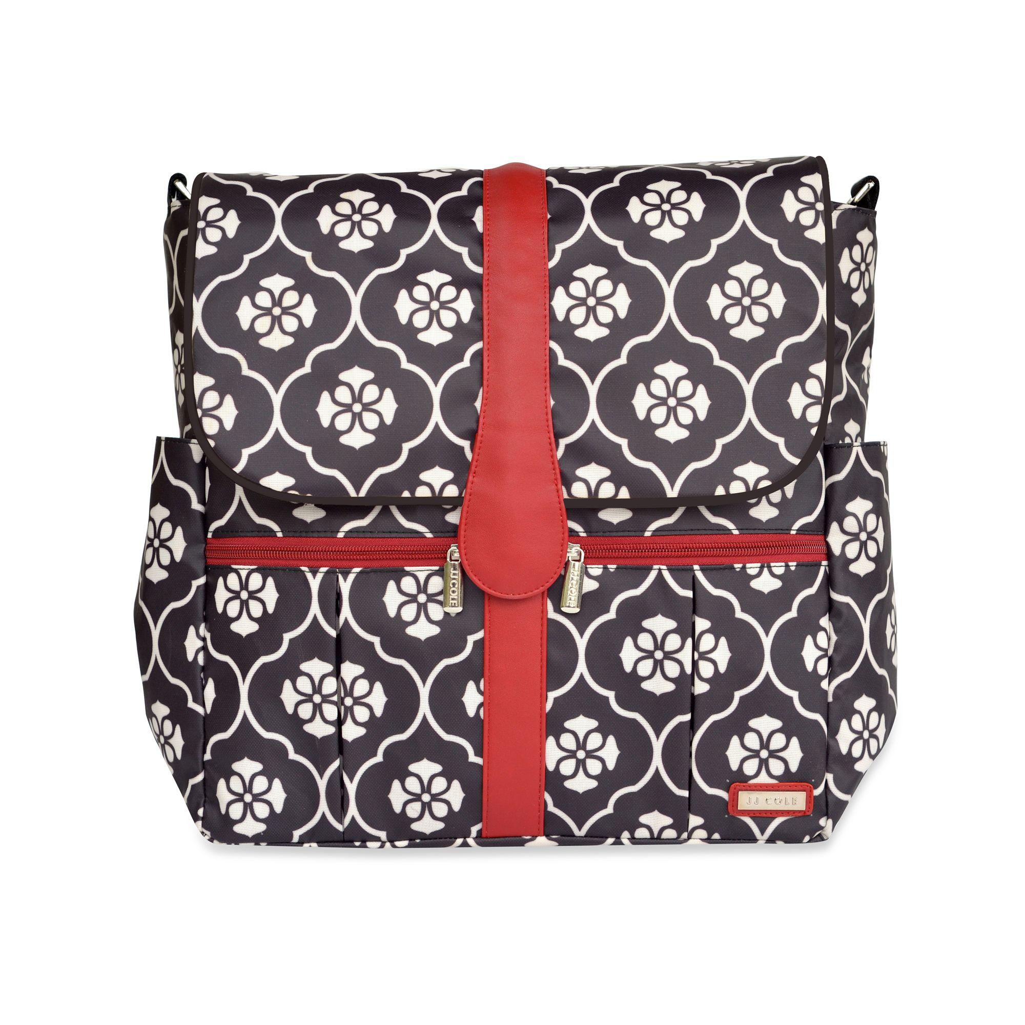 JJ Cole® Backpack Diaper Bag in Black Floret