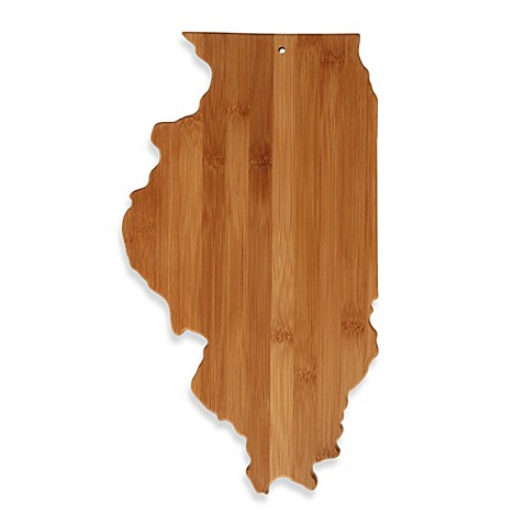 totally bamboo illinois state shaped cutting serving board bed bath beyond. Black Bedroom Furniture Sets. Home Design Ideas
