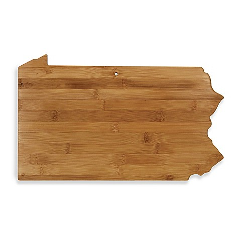 totally bamboo pennsylvania state shaped cutting serving board bed bath beyond. Black Bedroom Furniture Sets. Home Design Ideas
