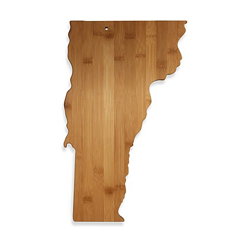 totally bamboo vermont state shaped cutting serving board bed bath beyond. Black Bedroom Furniture Sets. Home Design Ideas