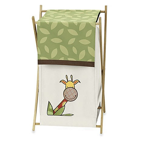 Buy sweet jojo designs jungle time laundry hamper from bed for Sweet jojo designs bathroom