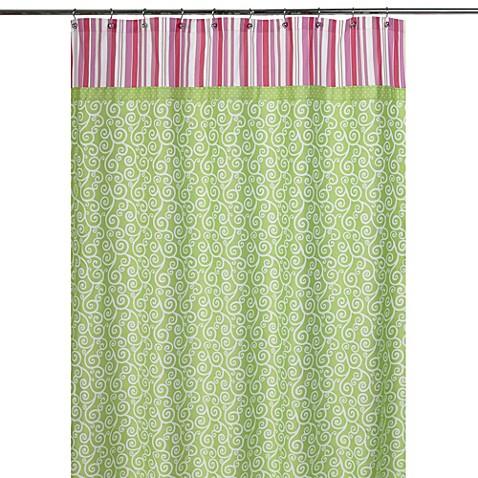 Kids bath decor sweet jojo designs olivia shower curtain for Sweet jojo designs bathroom