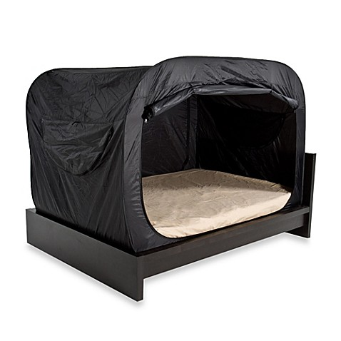buy privacy pop queen bed tent in black bedding accessory from bed bath beyond. Black Bedroom Furniture Sets. Home Design Ideas