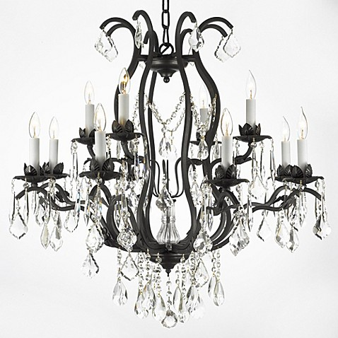 Gallery Wrought Iron and Crystal, 12-Light Chandelier at Bed Bath & Beyond in Cypress, TX | Tuggl