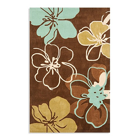 Modern Art Rug Collection In Brown Teal Bed Bath Amp Beyond