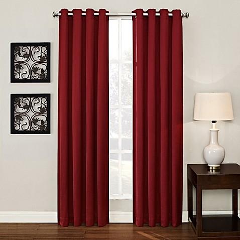 Buy Ashton 84 Inch Grommet Window Curtain Panel In Kiln