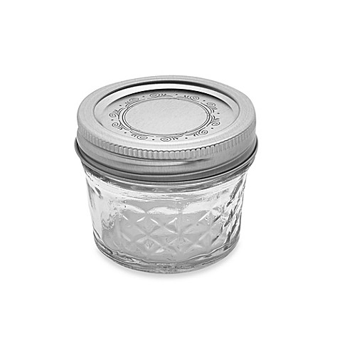 buy ball crystal quilted 12 pack 4 oz glass canning jars from bed bath beyond. Black Bedroom Furniture Sets. Home Design Ideas