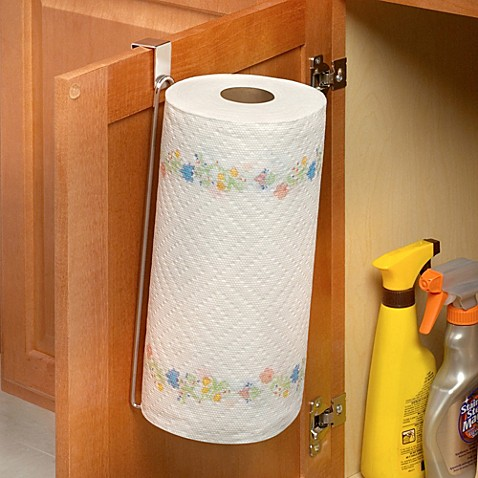 Over The Cabinet Door Vertical Paper Towel Holder Bed Bath Beyond