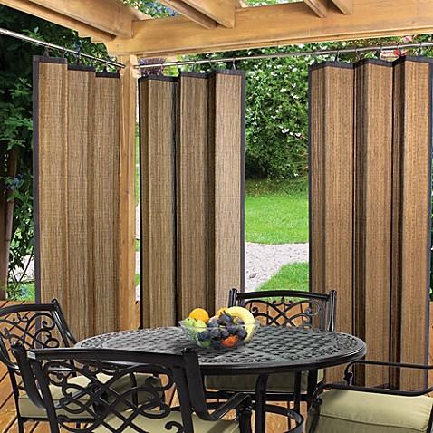 Easy Glide Indoor Outdoor Bamboo Ring Top Window Curtain