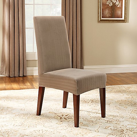 Sure Fit Stretch Pinstripe Short Dining Chair Slipcover Bed Bath Beyond