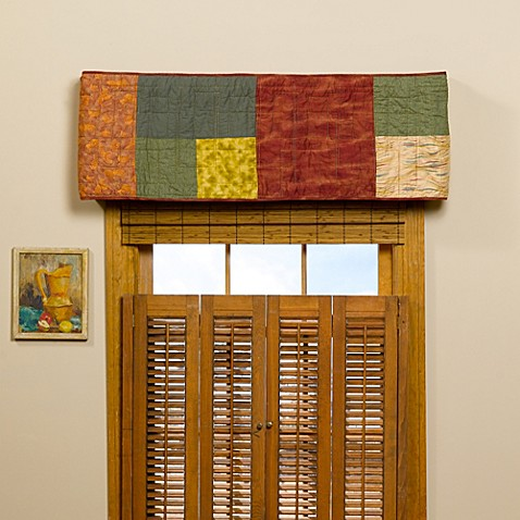 sharp bathroom window coverings | Buy Donna Sharp Southwest Square Window Valance from Bed ...