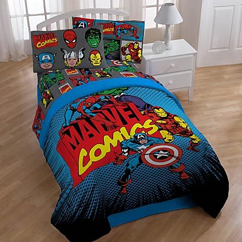 Disney marvel heroes super heroes printed bedding collection - Marvel superhero bathroom accessories ...