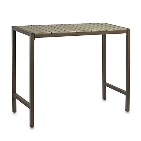 Resin Wood High Dining Table Bedbathandbeyond Com