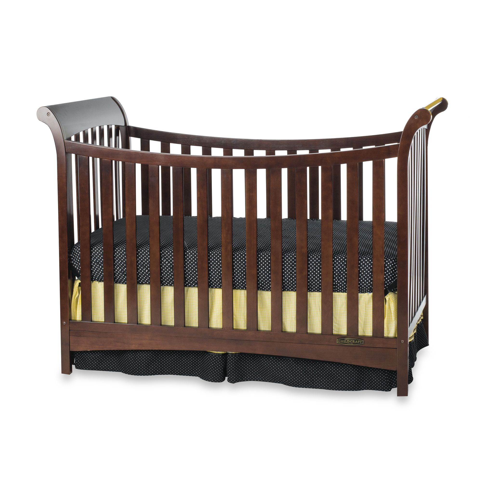 Child Craft? Coventry Traditional 3-in-1 Convertible Sleigh Crib in Cherry