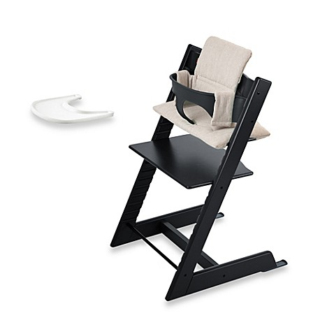 Stokke tripp trapp high chair complete bundle in black for Tripp trapp complete