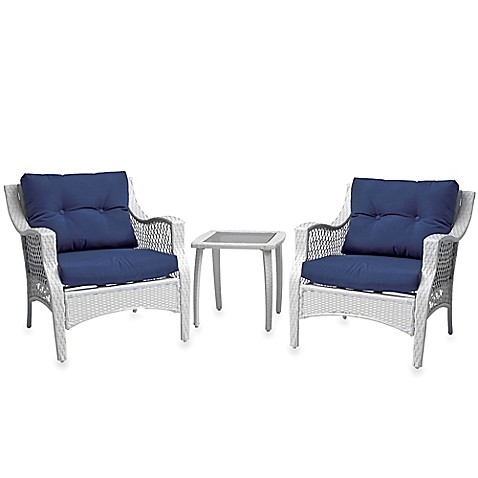 Stratford 3 Piece Wicker Chair Set