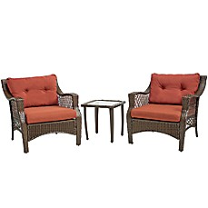 image of Stratford 3-Piece Wicker Chair Set