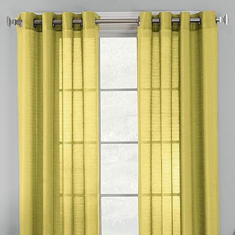 Knox Grommet Semi Sheer Window Curtain Panel