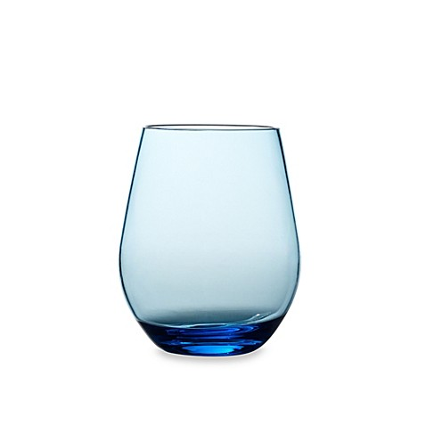 Buy Shatterproof Stemless Red Wine Glass In Cool Blue From