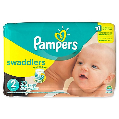 Pampers 174 Swaddlers 32 Count Size 2 Jumbo Pack Diapers