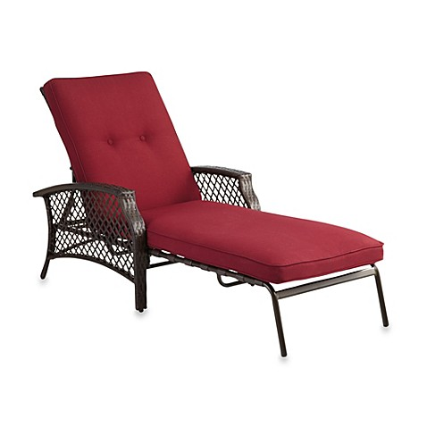 Stratford Wicker Padded Chaise Lounge Bed Bath Amp Beyond