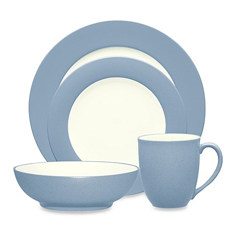 Noritake® Colorwave Rim Dinnerware Collection in Ice at Bed Bath & Beyond in Cypress, TX | Tuggl