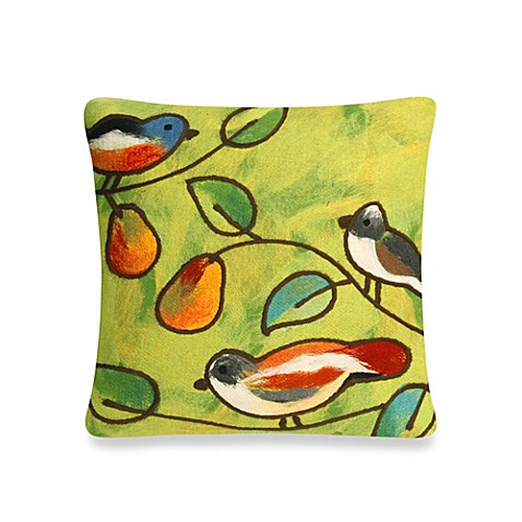 Buy Liora Manne20-Inch Square Outdoor Throw Pillow in Song Birds Green from Bed Bath & Beyond
