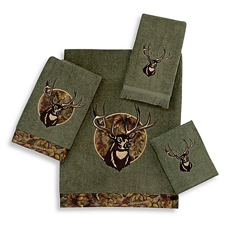 Buy Avanti Camouflage Deer Hand Towel In Peridot From Bed