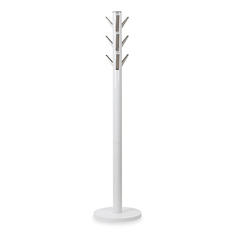 Umbra Flapper Standing Coat Rack in White at Bed Bath & Beyond in Cypress, TX | Tuggl