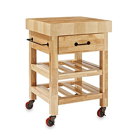 crosley marston butcher block rolling kitchen cart bed. Black Bedroom Furniture Sets. Home Design Ideas