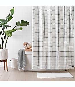 Cortina de baño de microfibra de poliéster UGG® Devon de 1.82 x 1.82 m color gris