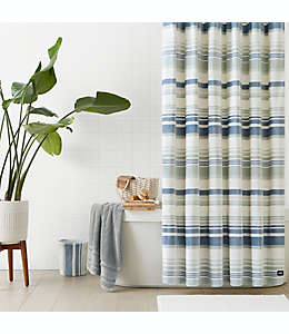 Cortina de baño de microfibra de poliéster UGG® Avery de 1.82 x 1.82 m color azul