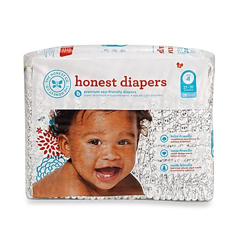 honest size four 29 pack diapers with skull pattern. Black Bedroom Furniture Sets. Home Design Ideas