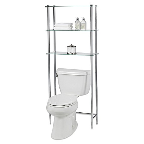 Creative Bath L Etagere 3 Shelf Glass Over The Toilet