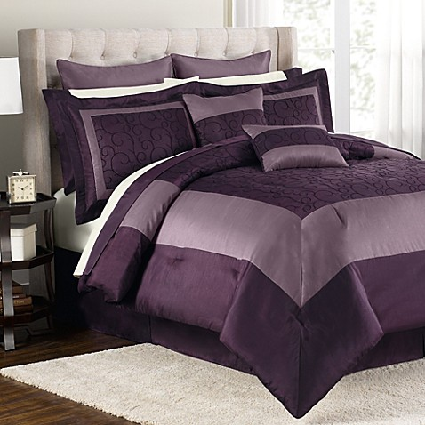 buy audrey 12 piece queen comforter set from bed bath beyond